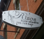 Rizos Main St. Sign